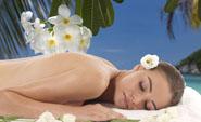 Massage du dos à la bougie bio de massage