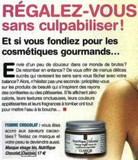 Le masque Nutrifique® au chocolat dans Télé Magazine
