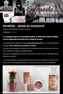 Le blog En mode... a testé le coffret de soins Ô chocolat ! Idée cadeau validée !
