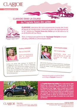 Le 13ème édition du Trophée Roses des Sables avec Clairjoie
